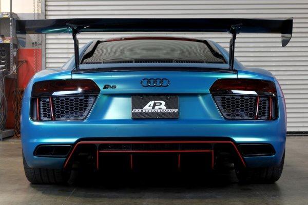 """APR Performance GTC-500 Adjustable Wing 74"""" (188 cm) + Carbon Fiber Active Spoiler Panel Replacement - 16+ Audi R8"""