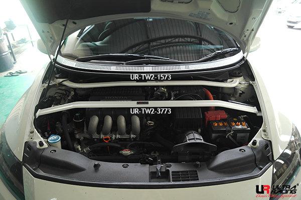 Ultra Racing Front Upper Strut Bar 2-Point V1 - 10-16 Honda CR-Z (ZF1) (2WD)