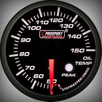 Prosport Racing Premium Series oil temperature 60 mm, green-white, Smoked