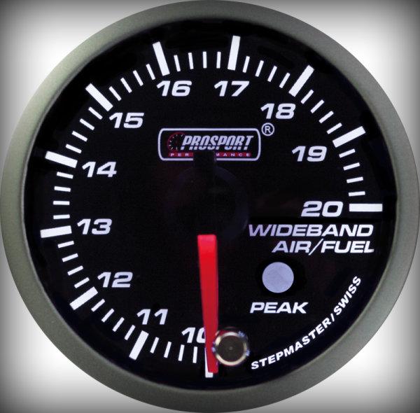 Prosport Racing Premium Series wideband 52 mm, blue-white, Smoked