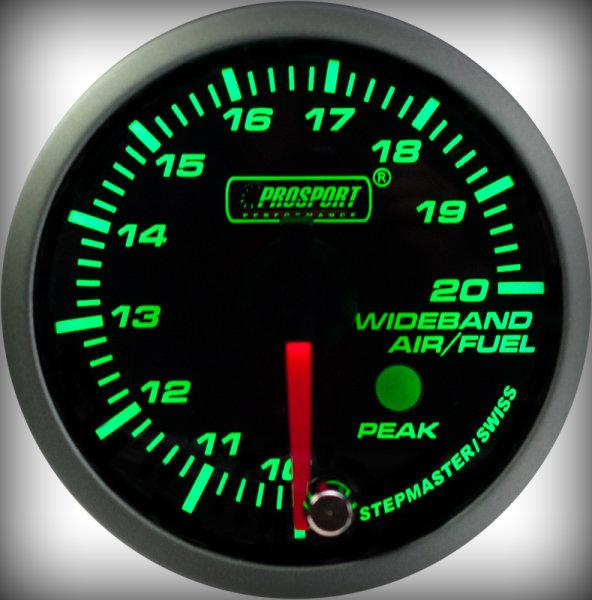 Prosport Racing Premium Series wideband 52 mm, green-white, Smoked