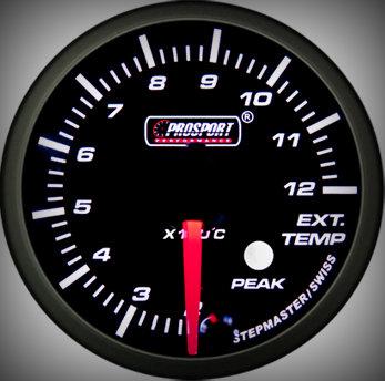 Prosport Racing Premium Series exhaust temperature 52 mm, green-white, Smoked