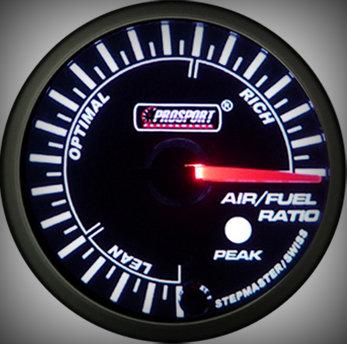 Prosport Racing Premium Series air/fuel ratio 60 mm, green-white, Smoked