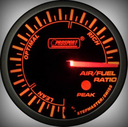 Prosport Racing Premium Series air/fuel ratio 60 mm, orange-white, Smoked