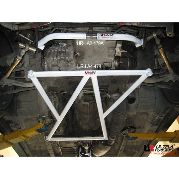 Ultra Racing Front Lower Bar 4-Point - 88-94 Nissan Skyline GT-R R32 2.6TT (4WD)