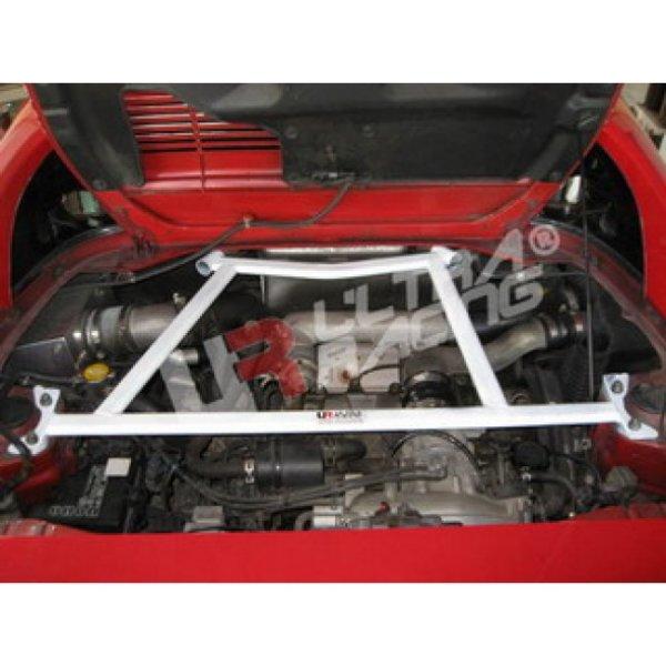 Ultra Racing Rear Upper Strut Bar 4-Point - 89-99 Toyota MR2 (W20) 2.0 (3S-GTE) (2WD)
