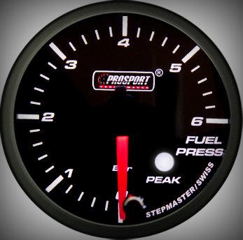 Prosport Racing Premium Series fuel pressure 52 mm, orange-white, Smoked