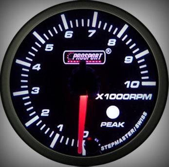 Prosport Racing Premium Series tachometer 60 mm, orange-white, petrol
