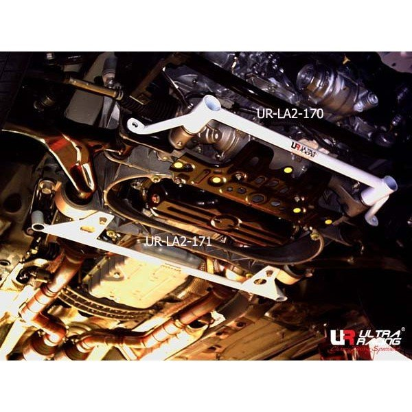 Ultra Racing Front Lower Bar 2-Point - 05-11 Lexus GS 300 (S190) 3.0/3.5 V6 (2WD) / 05-15 Lexus IS250/IS300 (XE20) 2.5 V6/3.0 (2WD) / 07-14 Lexus IS-F (XE20) 5.0 V8 (2WD) / 03-08 Toyota Crown (S180) 3.0 (2WD) / 04-16 Toyota Mark X (X120/X130) 2.5 V6 (2