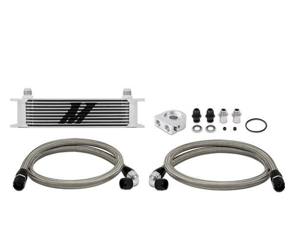 Mishimoto Oil Cooler Kit 10 row - universal silver without Thermostat