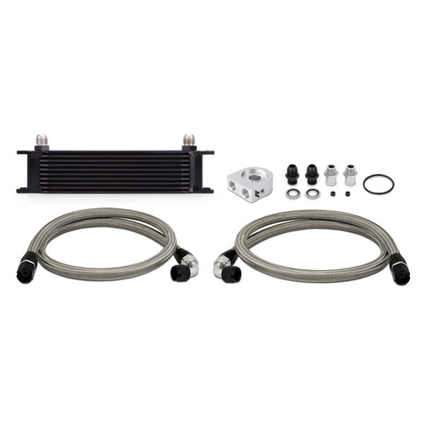 Mishimoto Oil Cooler Kit 10 row - universal black without Thermostat