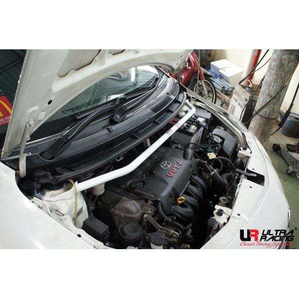 Ultra Racing Front Upper Strut Bar 2-Point (2-Hole) - 07-14 Scion XD (XP110) 1.8 (2WD) / 07-13 Toyota Vios (XP90) 1.5 (2WD) / 05-13 Toyota Yaris (XP90) 1.5 (2WD)