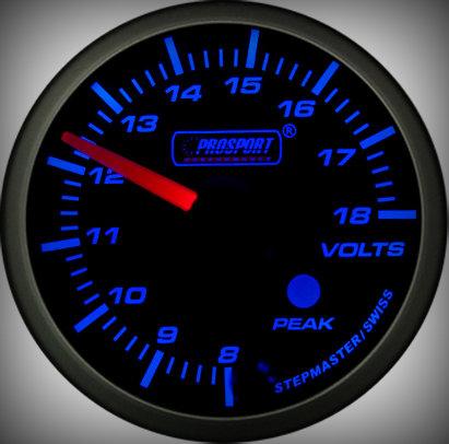 Prosport Racing Premium Series Electric Volt 52 mm, blue-white, Smoked