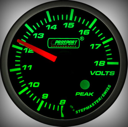 Prosport Racing Premium Series Electric Volt 52 mm, green-white, Smoked