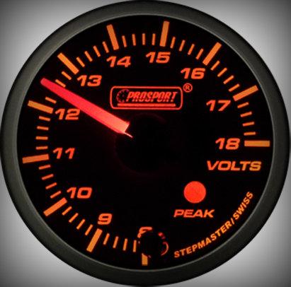 Prosport Racing Premium Series Electric Volt 52 mm, orange-white, Smoked