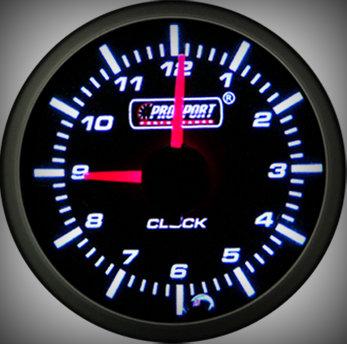 Prosport Racing Premium Series clock 52 mm, blue-white