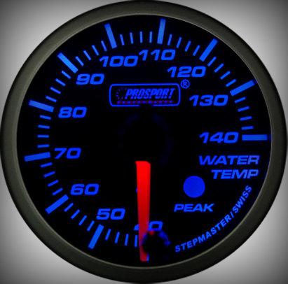 Prosport Racing Premium Series water temperature 52 mm, blue-white, Smoked