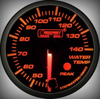 Prosport Racing Premium Series water temperature 52 mm, orange-white, Smoked