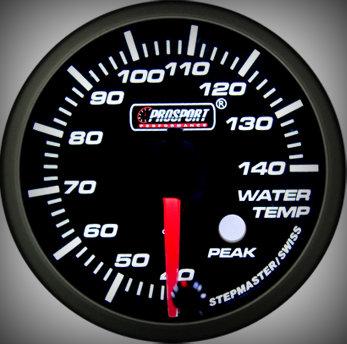 Prosport Racing Premium Series water temperature 60 mm, blue-white, Smoked