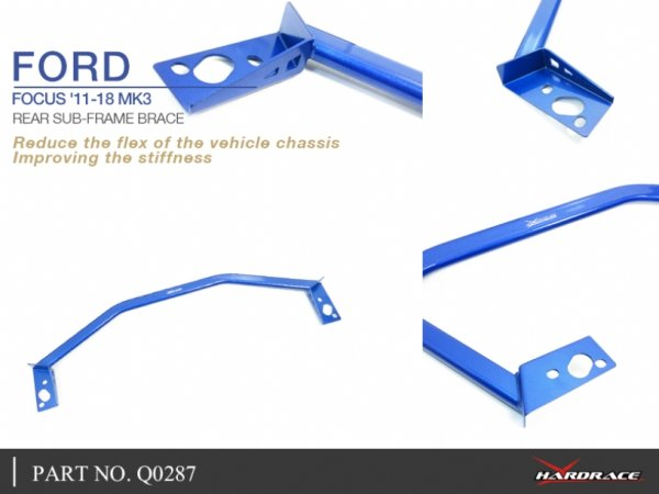 Hardrace Rear Sub-Frame Support Brace 2-point - Ford Focus MK3 (w/o 15-18  Focus RS)