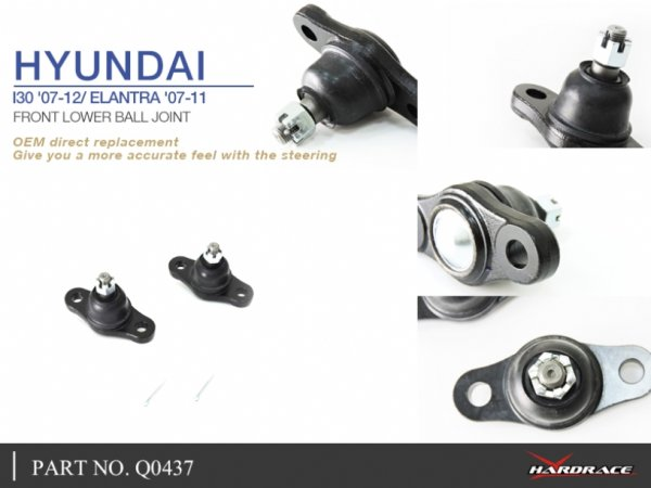 Hardrace Kugelköpfe vorn unten - 07-12 Hyundai i30