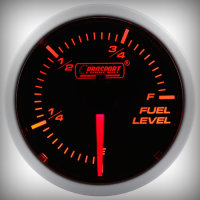 Prosport BF Performance Series Fuel Gauge 52 mm orange-white