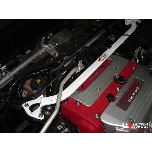 Ultra Racing Front Upper Strut Bar 2-Point - 02-07 Honda Accord Euro R (CL7) 2.0 (2WD)