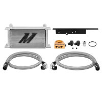 Mishimoto Oil Cooler Kit silver with Thermostat - 03-09...