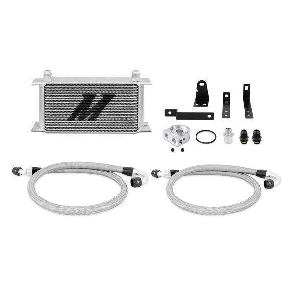 Mishimoto Oil Cooler Kit silver without Thermostat - 00-09 Honda S2000